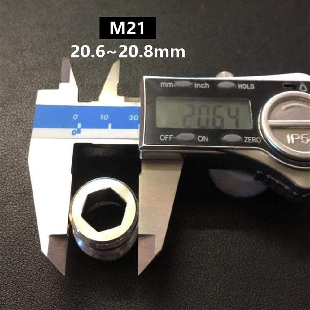 2 Conector De Ducha del Ba/ño De La Cocina De Lat/ón M24 F18 Accesorios Materiales G1 M20 F20 F16 F24 M18 M22 YiHao Adaptador del Grifo De Transferencia De Rosca Exterior M22 M16