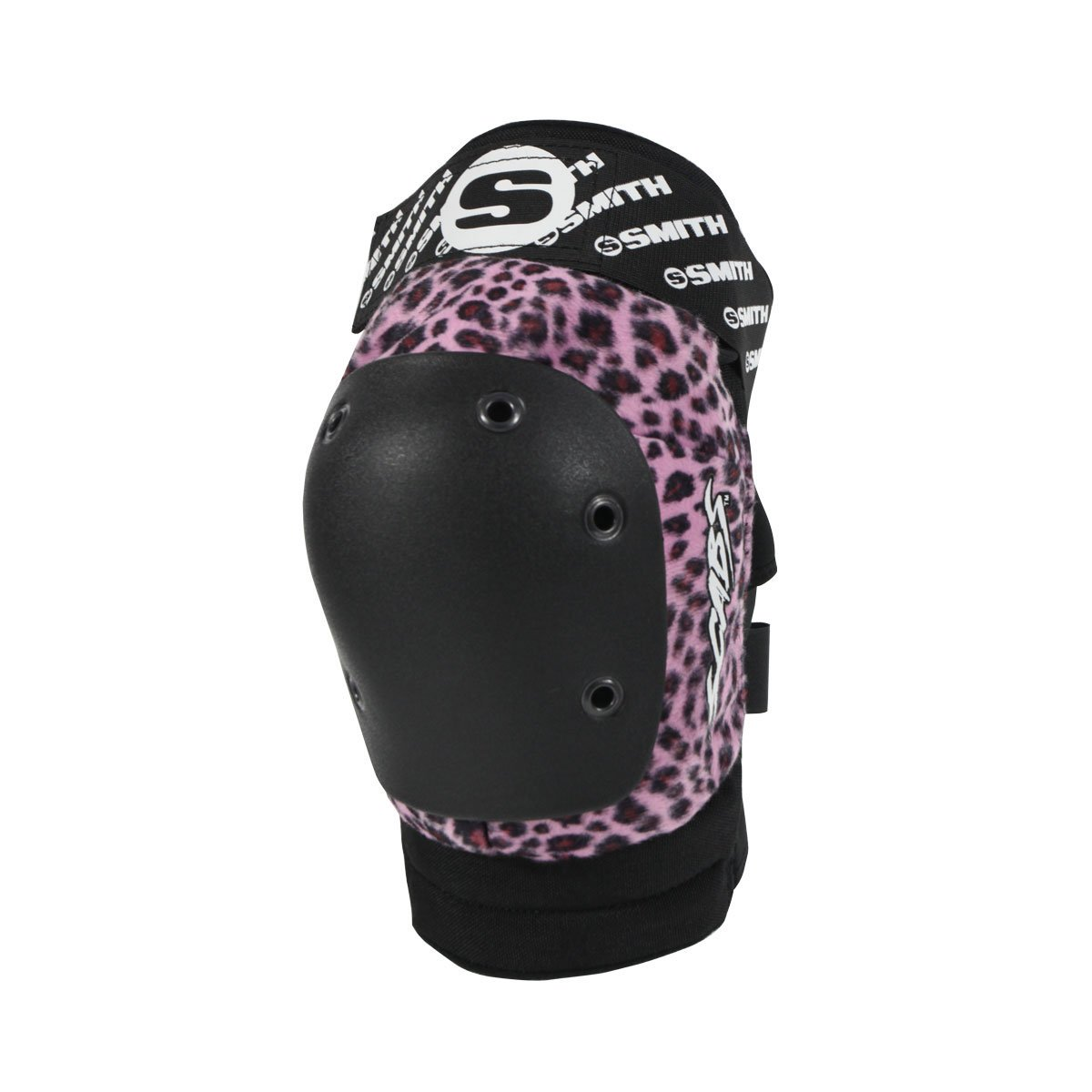 Smith Safety Gear Elite Leopard Knee Pads, Pink Leopard, Large/X-Large
