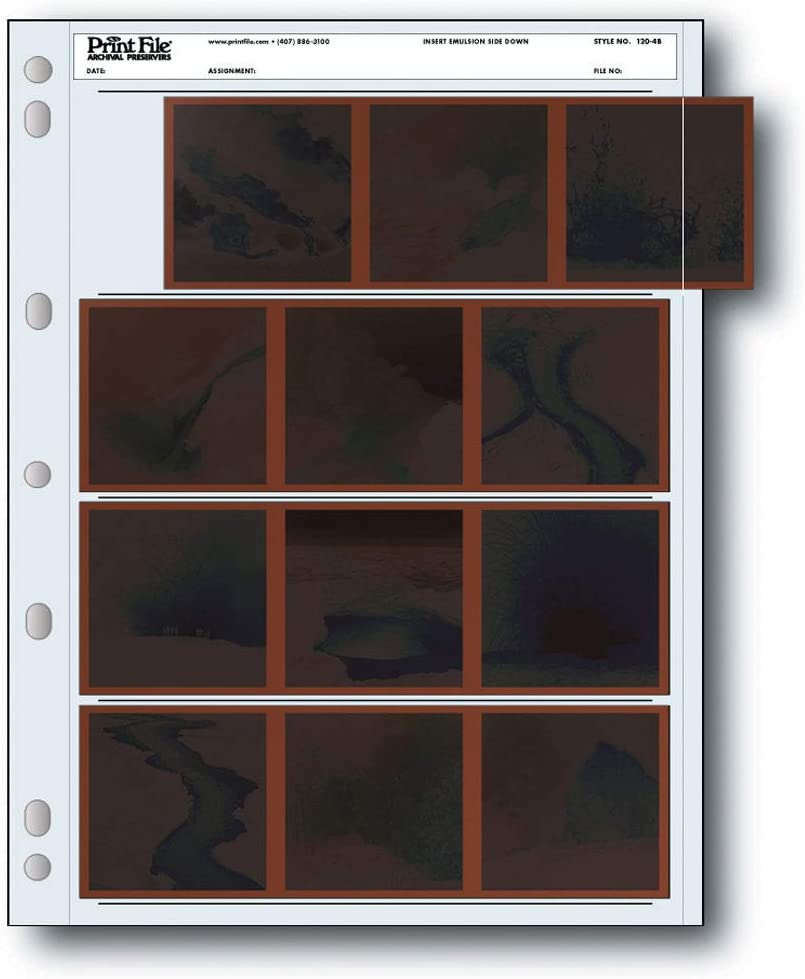 25 Pack Print File 120-4B Negative Preservers for 120 Film