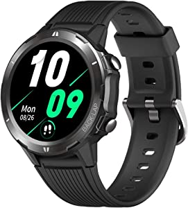 "TicKasa N1 Smart Watch for Android Phones and iPhones, 5ATM Waterproof Bluetooth Sport Smartwatch, Fitness Tracker with Heart Rate Sleep Monitor, Step Calorie Counter, 1.3"" Touch Screen for Men Women"