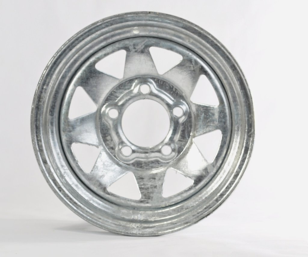 eCustomRim Trailer Rim Wheel 13'' 13X4.5 5 Lug Hole Bolt Wheel Galvanized Spoke Design