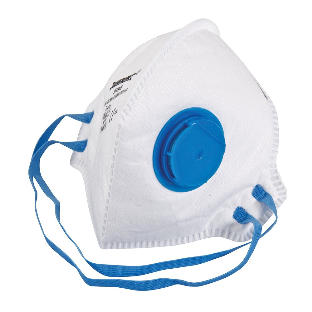 Silverline 568946 Fold Flat Valved Face Mask FFP2 NR FFP2 NR Single Generic