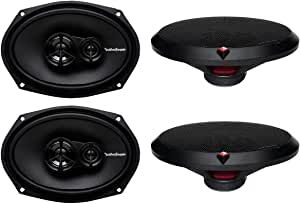 4 New Rockford Fosgate R169X3 6x9 260W 3 Way Car Coaxial Speakers Audio Stereo