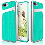 iPhone 7 Plus Case, LOHASIC Dual Layer Heavy Duty Protective Armor Hybrid [Tactile Grip] Impact Defender Shockproof PC + Soft TPU Cases Cover for Apple iPhone 7 Plus / iPhone 8 Plus – Mint Green