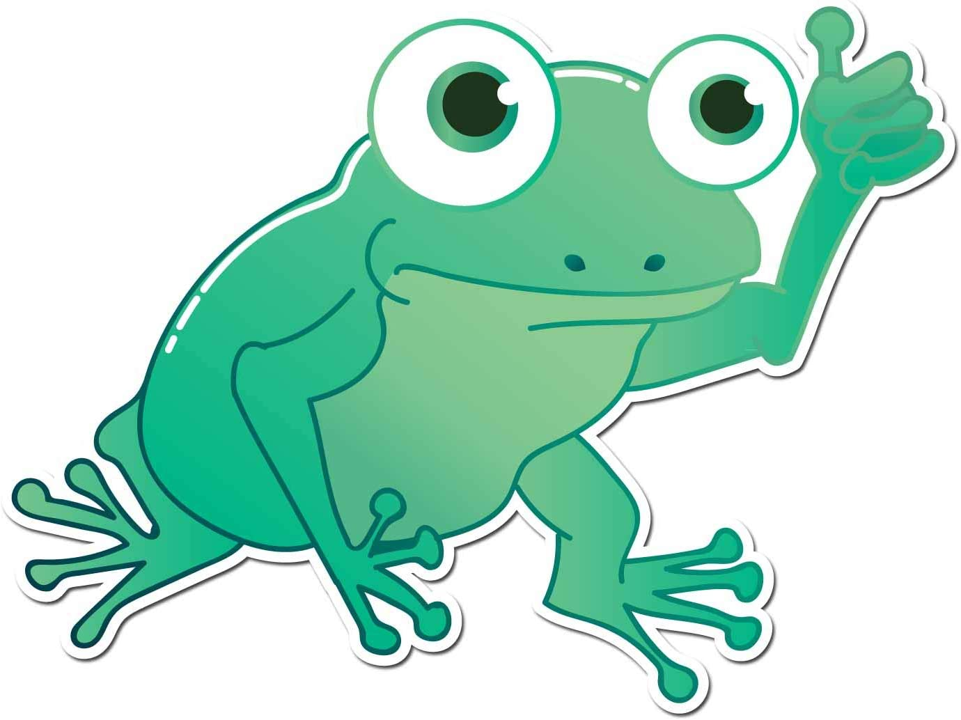 Amazon.com: DOOMSDAYDECALS Silly Little Frog Thumbs Up - Full Color Vinyl  Decal for Car Window, Exterior (6 Inch): Automotive