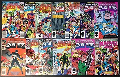 Secret Wars #8 1-12 & Secret Wars II 1-9 two complete sets + Marvel Age #12 & 27