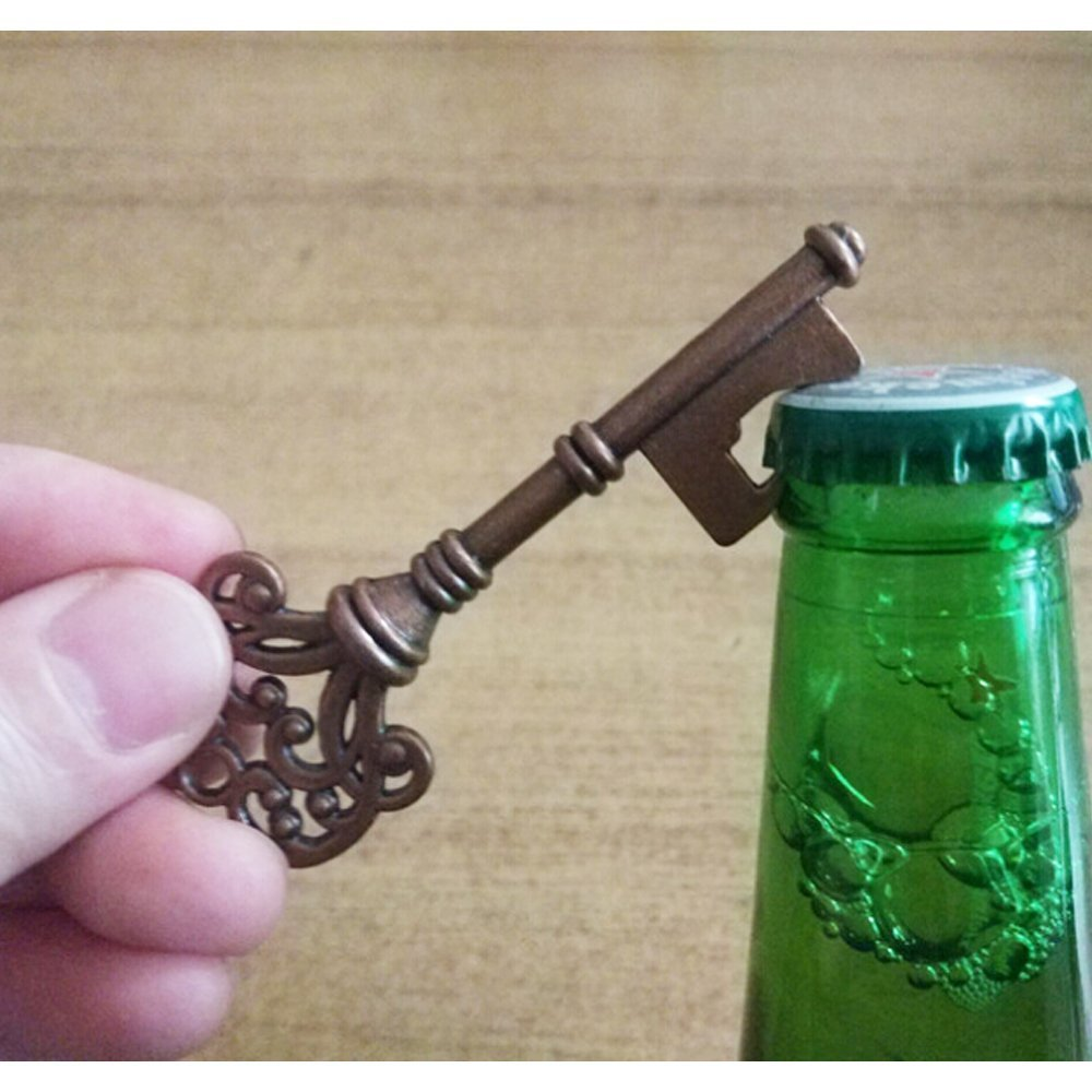Yansanido Pack of 100 Skeleton Key Bottle Opener with Escort Tag Card and Twine for Wedding Favors for Guests Party Favors (100pcs mixed 5 styles) by Yansanido (Image #3)