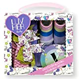 Luv Her Baby Newborn Infant Sock Bootle Monthly Milestone Stickers Headwrap Bows 0 to 12 Months