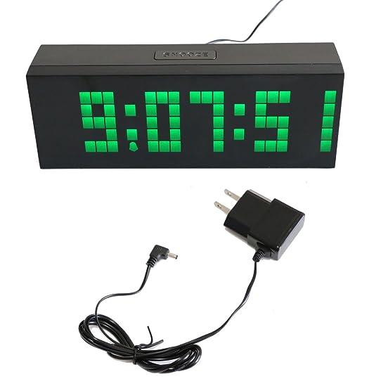 Finest t tocastm nouveau mode cm trois dimension gante horloge murale digitale with pendule for Pendule digitale led