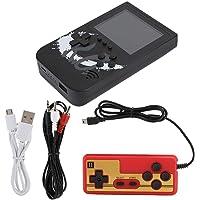 AMONIDA bärbar mini retro handhållen spelkonsol 10 000 mAh powerbank med gamepad 400 spel (svart)
