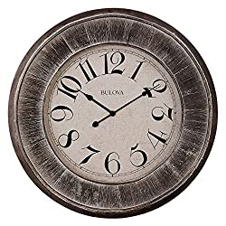 Bulova Restoration Wall Clock, 36, Silver