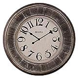 Bulova Restoration Wall Clock, 36'', Silver