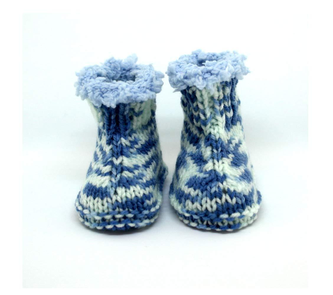 Botines de bebé de punto, Bebé uggs, Zapatillas de bebé, Botines de bebé, Botas de invierno, Botas de piel, Botines azules, Botines de bebé hechos a mano Bebé uggs Zapatillas de bebé Botines de bebé