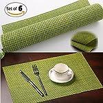 pvc placematsmate woven vinyl washable table mats heat resistant non slip placemats - Kitchen Table Mats