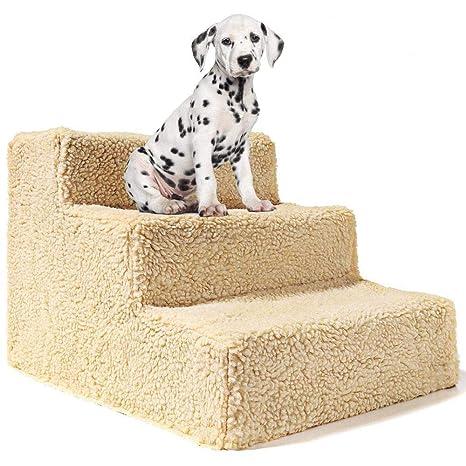 Yshen Escaleras para Perros Mascotas 3 Pasos Escaleras para Perro ...