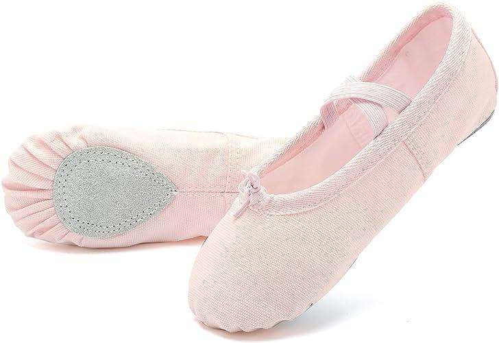 Amazon.com: Zapatillas de ballet de lona para mujer (bebé ...