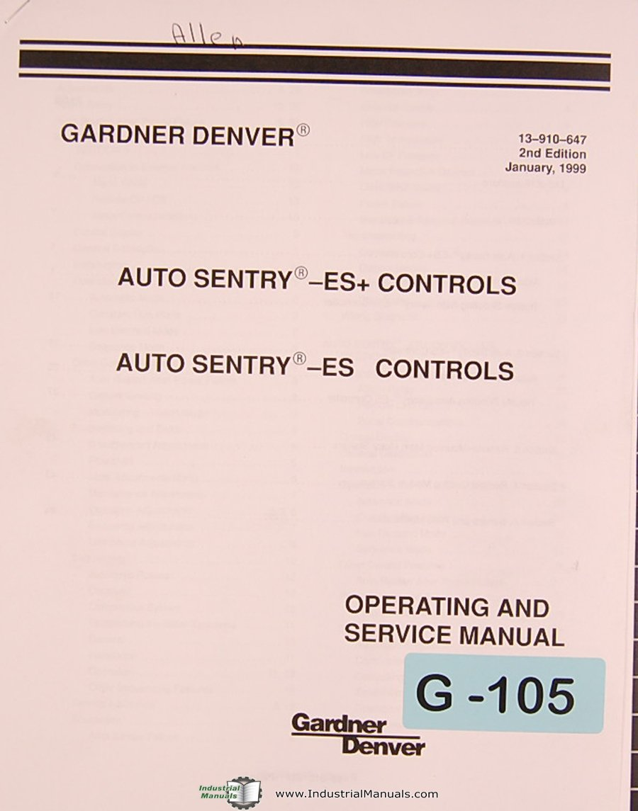 gardner denver es controls auto sentry operations and service rh amazon com Induction Motor Wiring Diagram Motor Control Wiring Diagrams