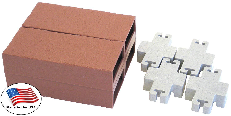 Argee RG825 Lets Edge It Decorative Plastic Brick Edging, no lights, 25 feet, Terra Cotta