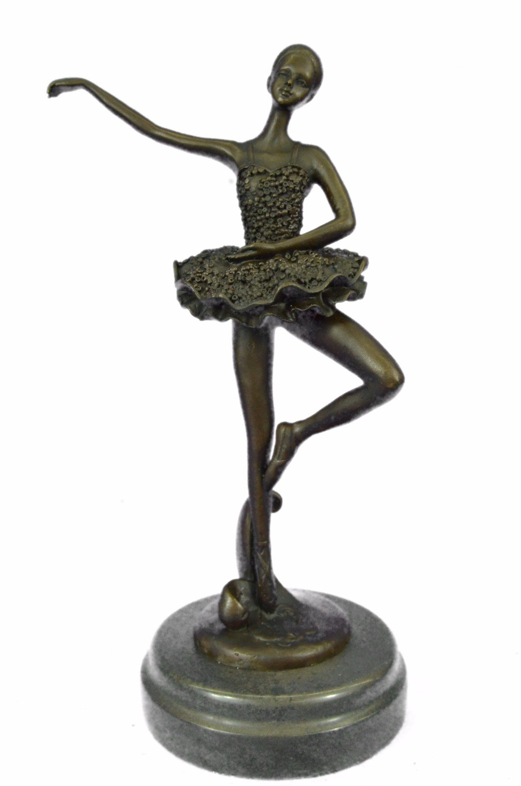 Handmade European Bronze Sculpture Art Deco Cute Child Ballerina a Trophy Hot Cast Figurine Bronze Statue -1X-YRD-1302-Decor Collectible Gift