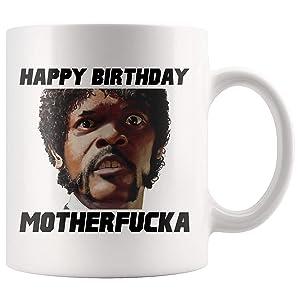 Dozili Pulp Fiction Quentin Tarantino Samuel L Jackson 40th Birthday Mug Birthday Coffee Mug 90s Movies Turning 40 35th Birthday 40th Bday Tea Cup, 11 Oz, White