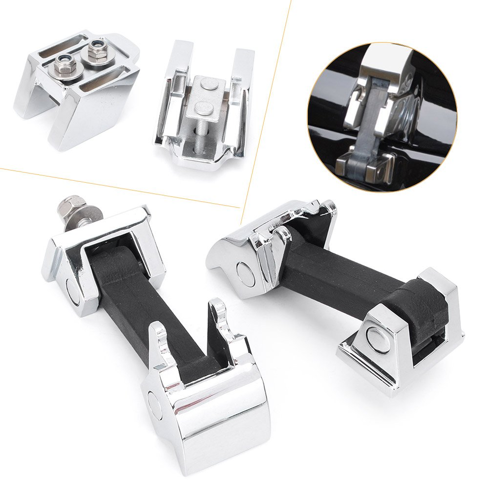 ABS Hood Latch Kit Replacement for 2007-2016 Jeep Wrangler JK 2 Door /& Jeep Wrangler Unlimited JK 4 Door Newsmarts Chrome Hood Cover Catch