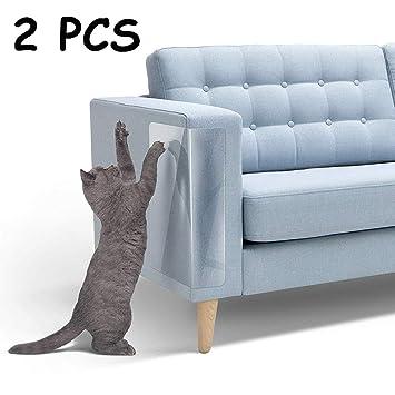 LKY - Muebles de Gato para rascar, 2 Protectores de Vinilo para Mascotas Flexibles, para Proteger Tus Muebles, Evita arañazos y Protege los Muebles de ...