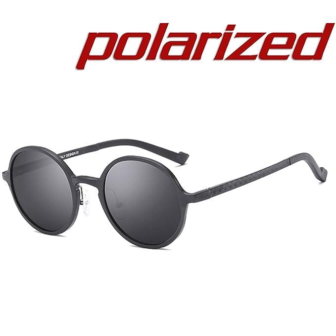 JULI Steampunk Redondo Gafas de sol Polarizadas Hombre Mujer Estilo Retro Inspirado Círculo Metálico: Amazon.es: Ropa y accesorios