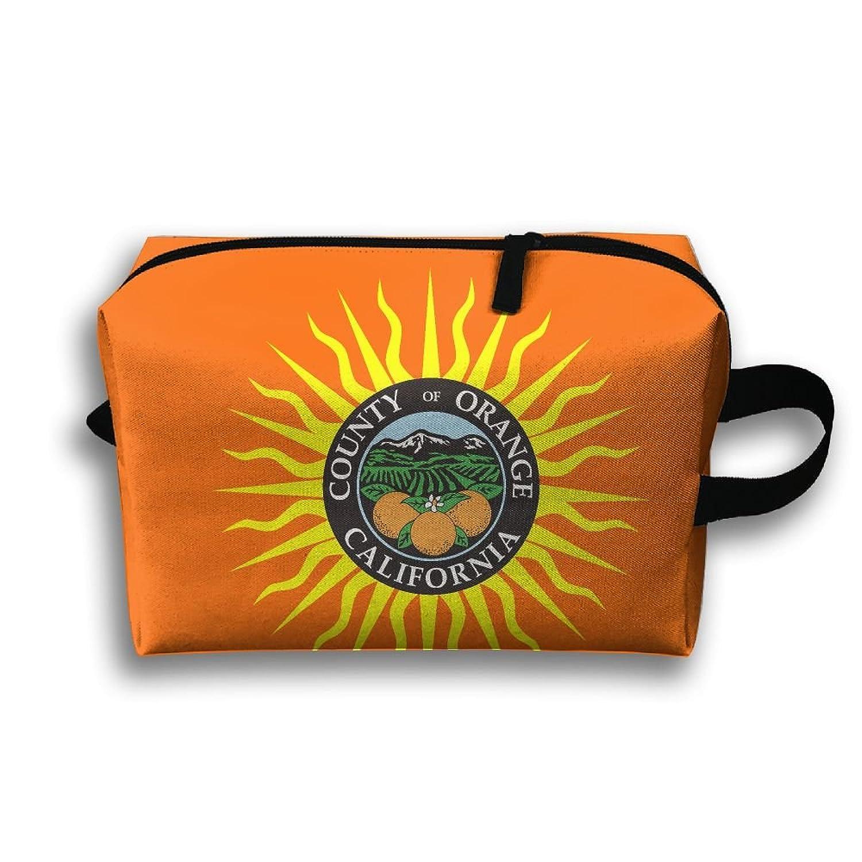 Flag Of Orange County California Unisex Fashion Travel Bag Portable  Toiletry Bag Organizer Storage