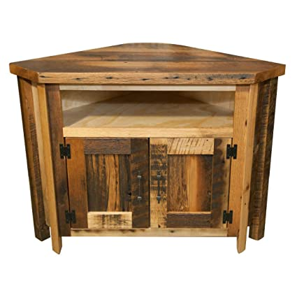 Amazoncom Hope Woodworking Reclaimed Wood Corner Tv Stand Home