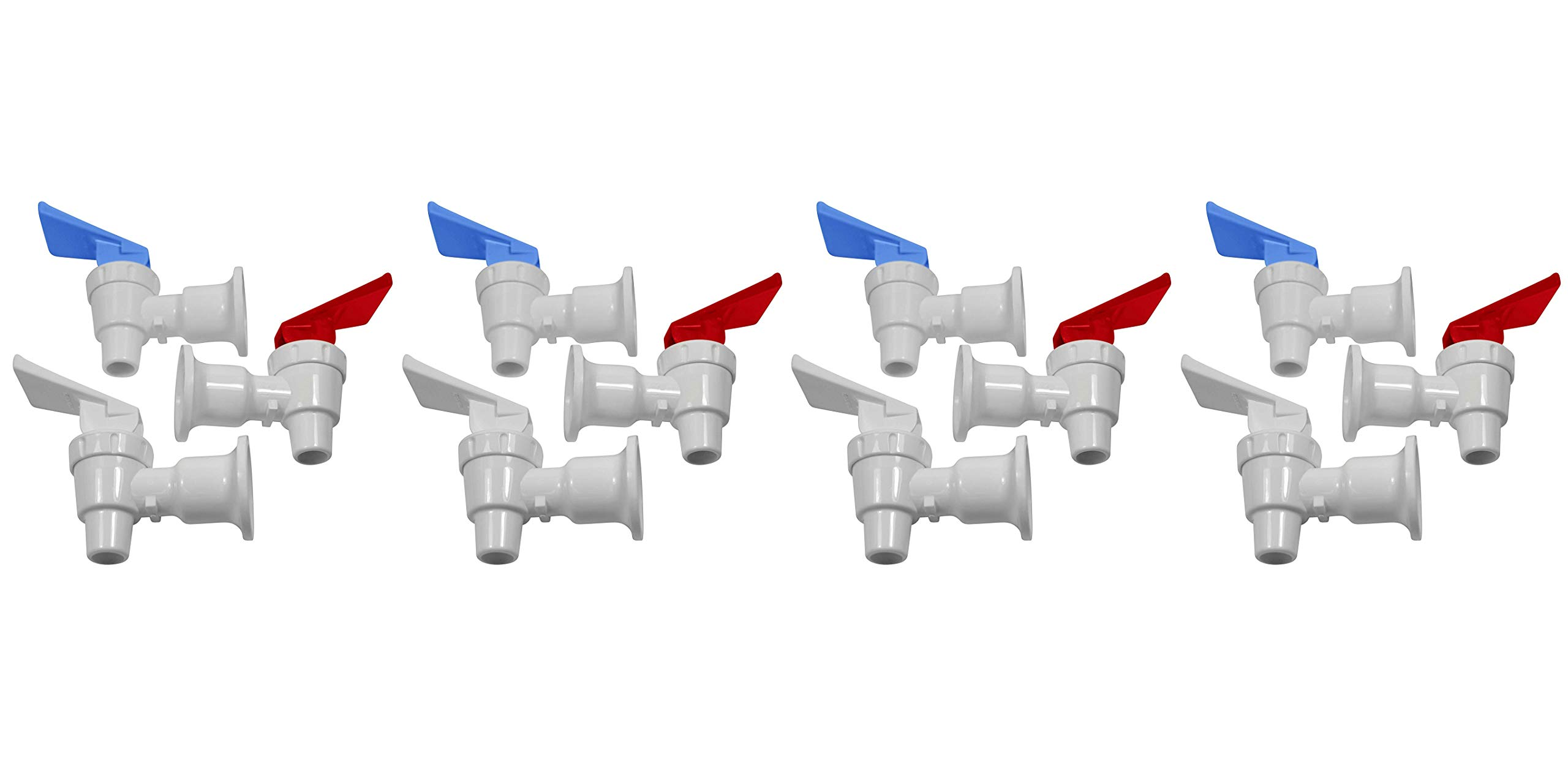 Smart Packs by OCSParts RWB217 Sunbeam Water Cooler Faucet, Tomlinson Blue/Red and White Handle, Combo Pack (Pack of 3) (Fоur Paсk)