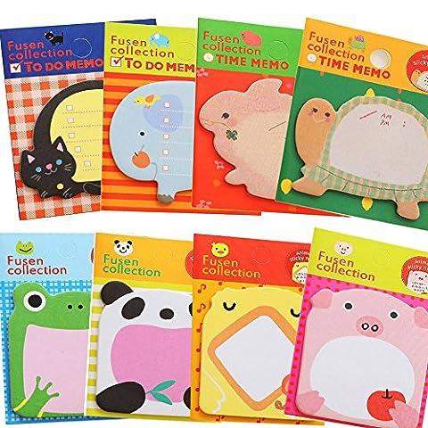 Sticky Notes Zoo Animal Cartoon Sticky Notes Self-stick Notes (Cartoon Animal) - Star Shaped Sticky Notes
