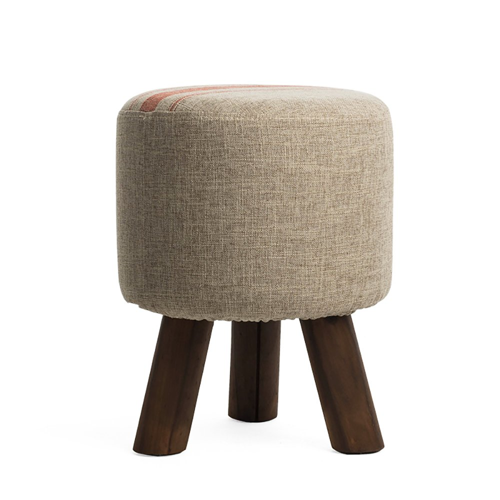 A LXJYMX Living Room Stool Simple Sofa Bench, Solid Wood shoes, Bench, Cloth, Footstool, Stool, Small Stool (color   A)