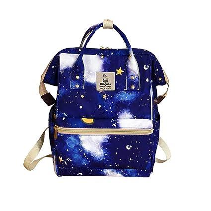 FossenStu Bolsas Escolares Juveniles Niña con Estampado de Cielo Estrellado - Estilo Japonés Mochila Escolar, Simple Estilo Europeo, Versión Coreana - ...