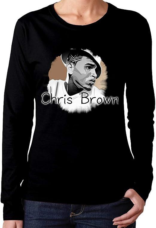 YYdg Chris Brown Camiseta de algodón para Mujer de Manga ...