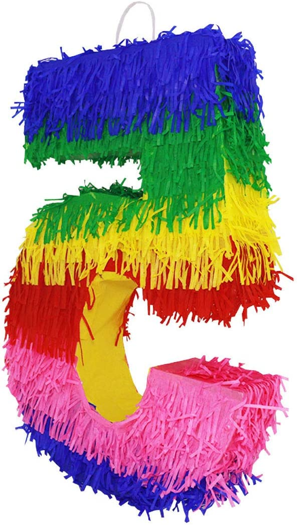 Anniversary Number 6 Mexican Pi/ñata Game D/écor Lytio Number Multicolor Party Small Pinata for Birthday Centerpiece Decoration Photo Prop Party Supplies