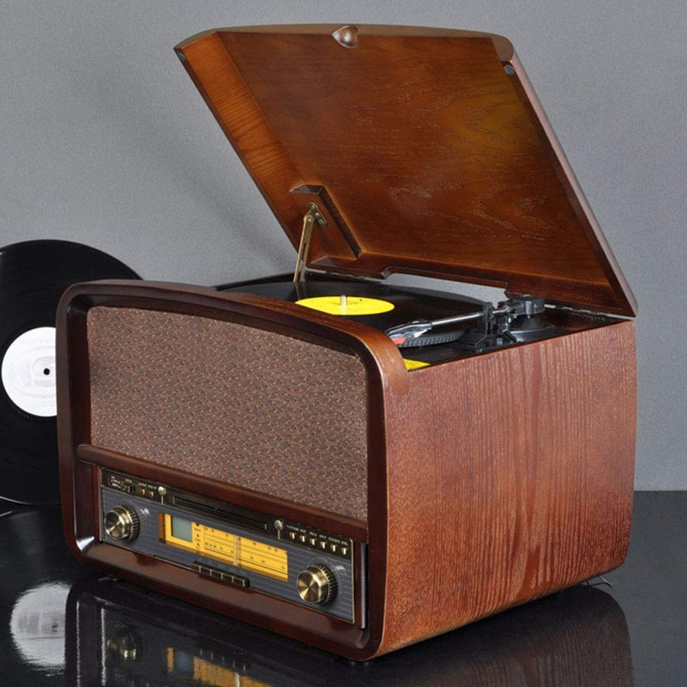 BeiMi Lujoso Reproductor de Discos Retro clásico, Centro de música ...
