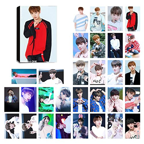 Price comparison product image KPOP WANNA ONE Lomo Cards Photocard Set of 30 for Wannable Fan with Greeting Card Postcards Box (WANNA ONE Ji-Hoon)