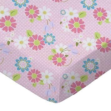 Babies R Us Knit Bassinet Sheet Pink Dot