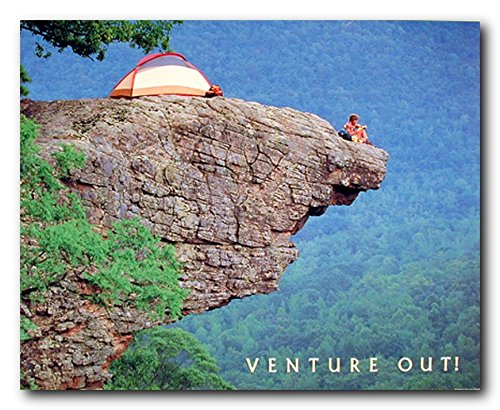 Venture Cliff Climbing Motivational Poster product image