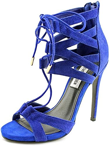 Moviente Contra la voluntad mostrar  Steve Madden Maiden Women US 8.5 Blue Sandals: Amazon.co.uk: Shoes & Bags