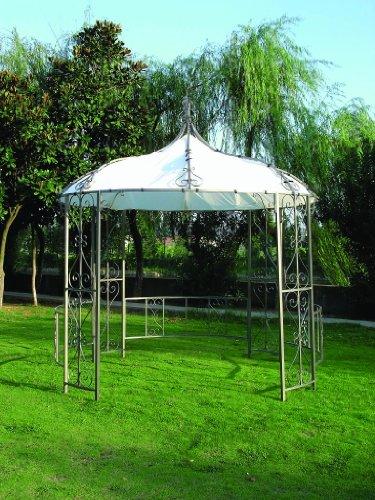 Luxus Pavillon 300cm rund, Stahlgestell + Dach wasserdicht weiss