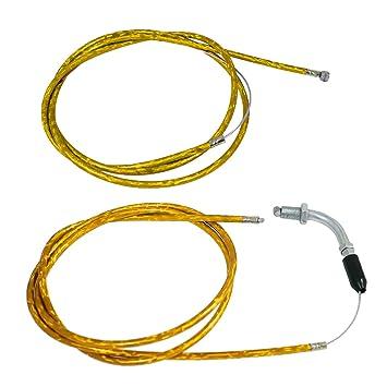JRL Cable de Embrague Amarillo Línea y Acelerador para Moto motorizada DE 49 CC 60 CC