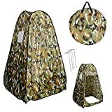 PROSPERLY U.S.Product Camouflage Portable Pop UP Fishing & Bathing Toilet Changing Tent Camping Room