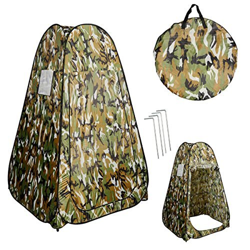 PROSPERLY U.S.Product Camouflage Portable Pop UP Fishing & Bathing Toilet Changing Tent Camping Room by Prosperly