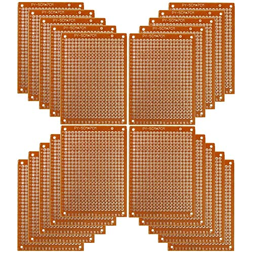 Copper Perfboard 20 PCS Paper Composite PCB Boards (5 cm x 7