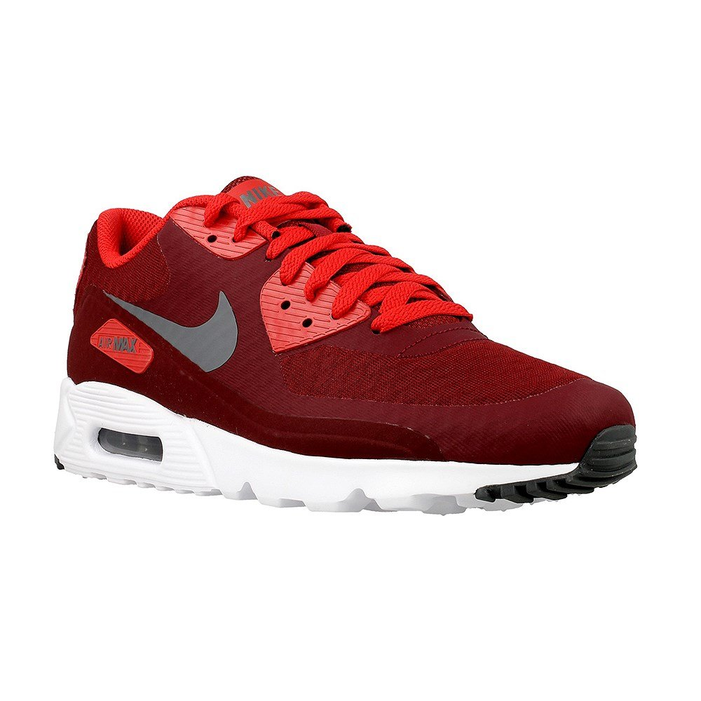 Nike Men's Air Max 90 Ultra Essential, TEAM RED/DARK GREY-UNIVERSITY RED-WHITE, 15 M US by NIKE