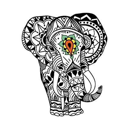 Yeeech Temporary Tattoo Sticker Animal Elephant Thailand God Design