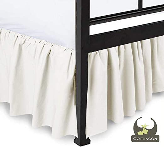 Multi Color Ruffle-gathering Bed Skirt with Split Corner Three Side Coverage