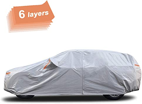 Car Cover Durable For Dodge Caravan Dustproof Waterproof Breathable Silver White