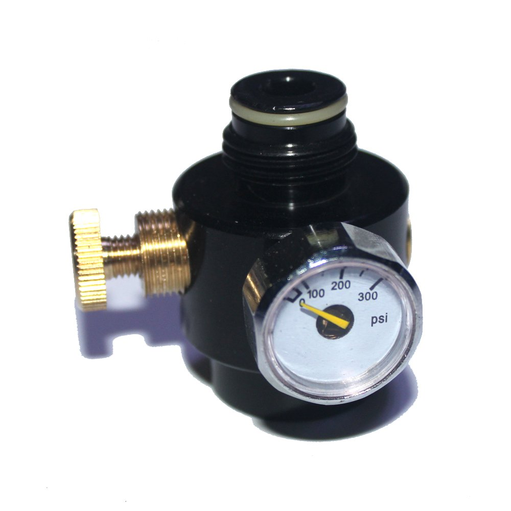 Airsoft PCP Paintball Tank Cylinder Adjustable Compressed Air Regulator Output Pressure 0-300psi 0.825-14NGO Thread by Outdoor Guy